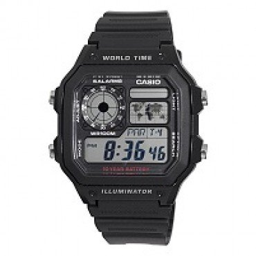 Casio Mens World Time Multifunction Watch