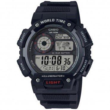 Casio Men's 'Classic' Quartz Resin Casual Watch, Color:Black (Model: AE-1400WH-1AVCF)