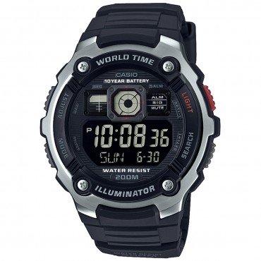 Casio Men's 'Classic' Quartz Resin Casual Watch, Color Black (Model: AE-2000W-1BVCF)