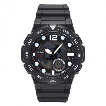 Casio Men's Black Ana-Digi Dive Style Watch