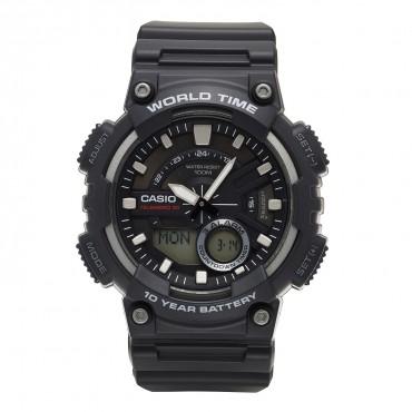 Casio Men's AEQ110W-1AV Analog and Digital Quartz Black Watch