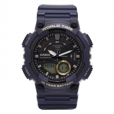 Casio Men's Heavy Duty Quartz Resin Watch, Color Blue (Model: AEQ110W-2AV)