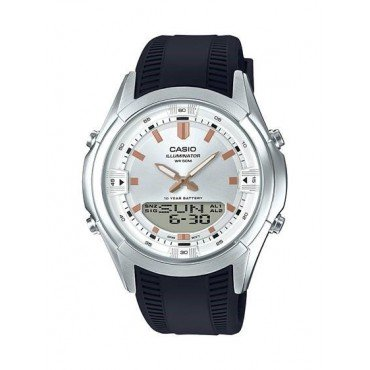 Casio Mens Analog Digitall Black Resin Watch