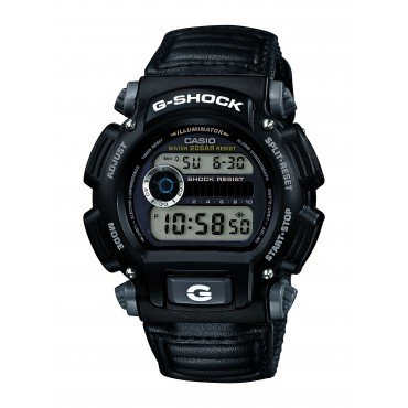 Casio Mens G-Shock Digital Quartz Canvas Strap Grey Watch