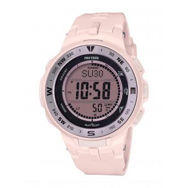 Casio Women's 'Pro Trek' Quartz Pink Resin Watch