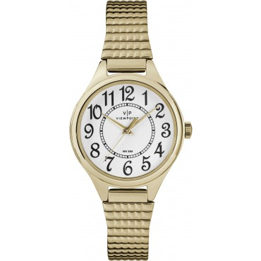 Viewpoint by Timex CC3D82200 Women's Gold-Tone Stainless Steel Expansion Band Watch