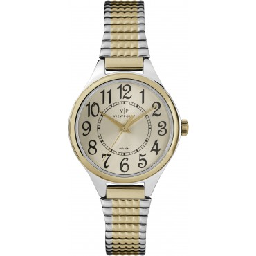 Viewpoint by Timex CC3D82500 Women's Two-Tone Stainless Steel Expansion Band Watch