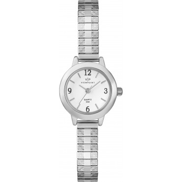 Viewpoint by Timex CC3D83300 Women's Silver-Tone Stainless Steel Expansion Band Watch