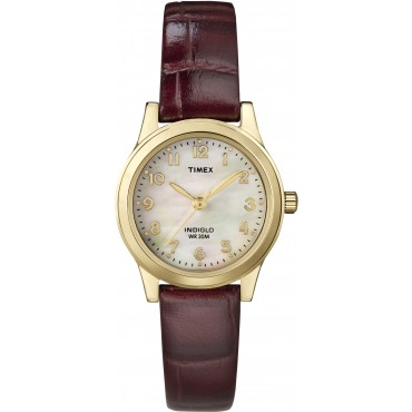 Timex Womens Elevated Classics Burgundy Dress Watch