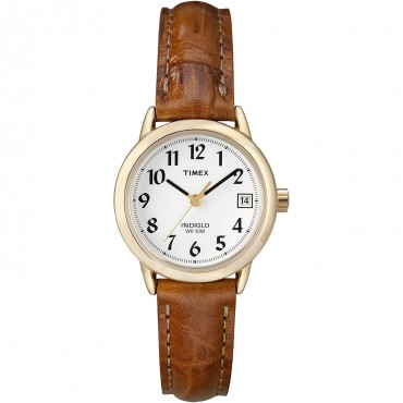Timex Women's Easy-to-Read Dial Leather Strap Watch