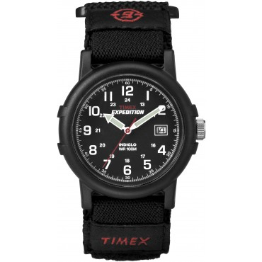 Timex Mens Black Analog Camper Watch