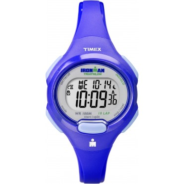 Timex Womens Ironman Blue 10 Lap Sport Watch