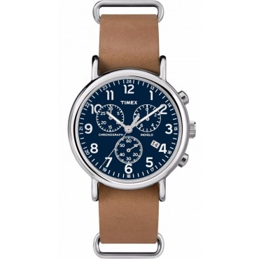 Timex Unisex Chronograph Weekender Analog Brown Watch