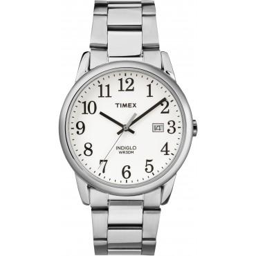 Timex Mens TW2R23300 Easy Reader Silver Bracelet Watch
