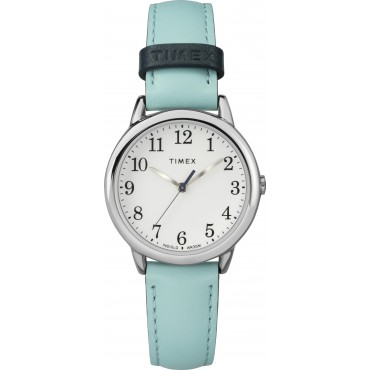 Timex TW2R62900 Women's 30mm Easy Reader Blue Leather Strap Watch