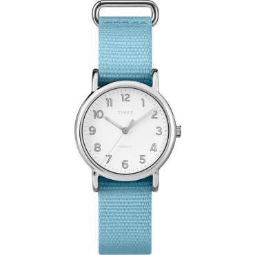Timex TW2R80600 Women's 31mm Weekender Blue Nylon Strap Watch