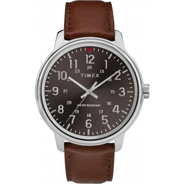 Timex TW2R85700 Men's Tan Leather Strap Watch