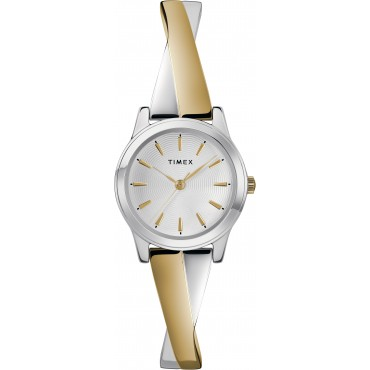 Timex TW2R98600 Women's Two-Tone Stainless Steel Expansion Band Bangle Watch