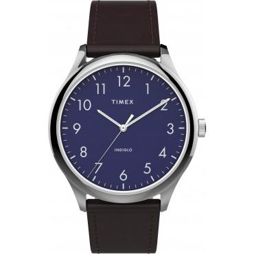 Timex TW2T72000 Men's Modern Easy Reader   40mm Brown Leather Strap Watch