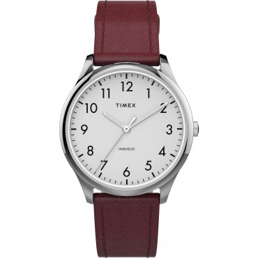 Modern Easy Reader 32mm Leather Strap Watch