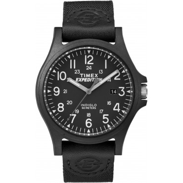 Timex Mens TW4B08100 Expedition Arcadia Black Fabric Strap Watch