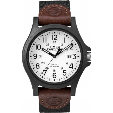 Timex Mens TW4B08200 Expedition Arcadia Brown Fabric Strap Watch