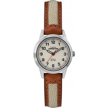 Timex TW4B11900 Unisex Expedition Field Mini Tan Leather Strap Watch