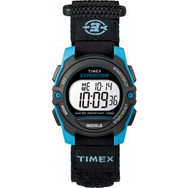 Timex TW4B12900 Unisex Expedition Mid CAT Black/Blue Fast-Wrap Strap Watch