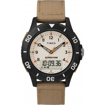 Timex TW4B16800 Men's Expedition   Katmai Combo Brown Fabric Strap Watch