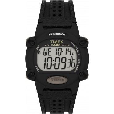 Timex TW4B20400 Expedition   Chrono-Alarm-Timer 39mm Leather Strap Watch