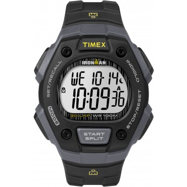 Timex Mens TW5M09500 IRONMAN Classic 30 Full-size Black Sport Watch