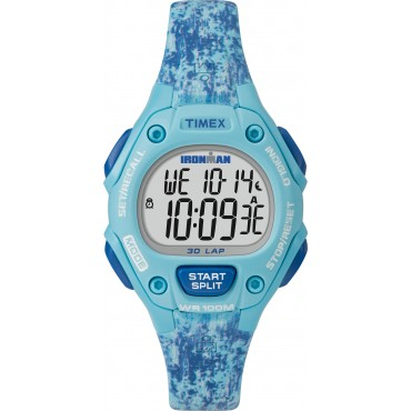 Timex TW5M16200 Men's Ironman Classic 30 Full Size Blue Resin Strap Watch