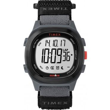 Timex TW5M19300 Men's Ironman   Transit Essential 10 Grey/Black Fastwrap   Strap Watch