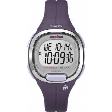 Timex TW5M19700 Women's Ironman   Transit Essential 10 Purple Resin Strap Watch