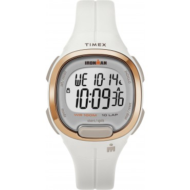 Timex TW5M19900 Women's Ironman   Transit Essential 10 White Resin Strap Watch