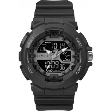 Thumbnail Timex Men's TW5M22500 HQ DGTL Sporty Combo Black/Negative Resin Strap Watch - N/A