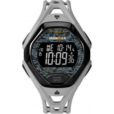 Timex Men's TW5M23800 Ironman Sleek 30 Gray/Black Resin Strap Watch