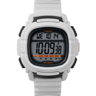 Timex Men's TW5M26400 BST.47 White Silicone Strap Watch