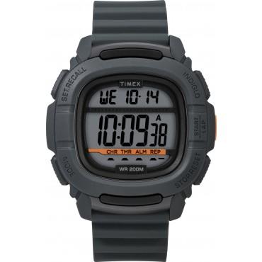Timex Men's TW5M26700 BST.47 Gray Silicone Strap Watch