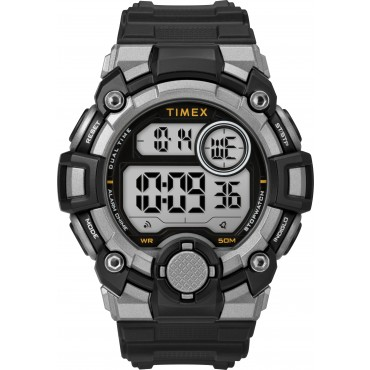 Timex Men's TW5M27700 A-Game DGTL 50mm Black/Gray Resin Strap Watch