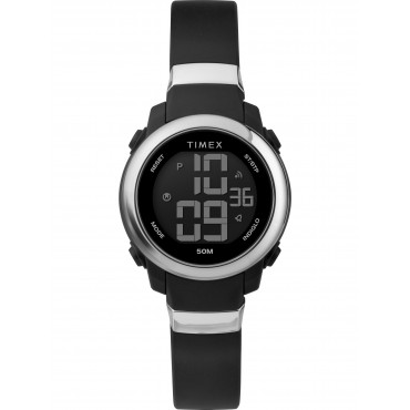 Timex TW5M29300 DGTL Women's Digital 28mm Black Resin Strap Watch