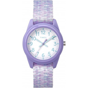 Timex Youth TW7C12200 Purple Nylon Strap Watch