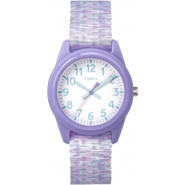 Timex Youth TW7C12200 Purple Nylon Strap Watch