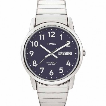 Timex Mens Silvertone Easy Reader Watch