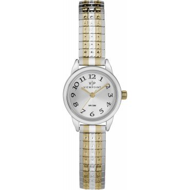 Viewpoint by Timex CC3D82700 Women's Two-Tone Stainless Steel Expansion Band Watch