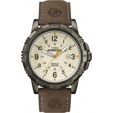 Timex Men's Expedition Rugged Field Watch with Leather Band
