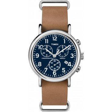 Timex Unisex Chronograph Weekender Analog Brown Watch