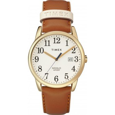 Timex TW2R62700 Women's 38mm Easy Reader Brown Leather Strap Watch
