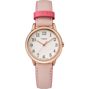 Timex TW2R62800 Women's 30mm Easy Reader Pink Leather Strap Watch