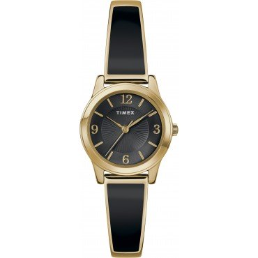 Timex TW2R92900 Women's Black/Gold-Tone Stainless Steel Expansion Band Bangle Watch